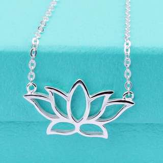 Sterling Silver Delicate Lotus Necklace
