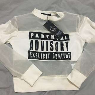 Everland Clothing, Crop Jumper Parental Advisory