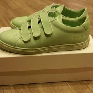 Brand New Woman by Common Projects Archilles Three Strap Mint Sz 37 Supreme Dover Gosha Vetements Kenzo