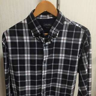 ORI ZARA T-Shirt Brown Checkered