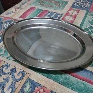 Elliptical stainless steel Plate 29cm x 21cm (A Set of 12 PCs)