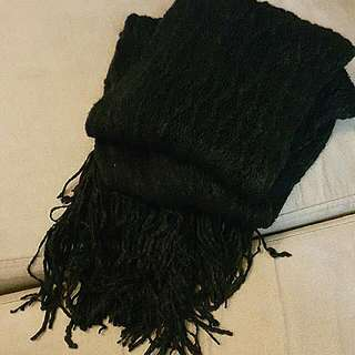 純黑色頸巾black Scarf