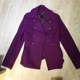 H&M 毛料厚外套大衣