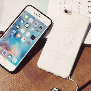 chrome heart 矽膠軟殼 白色iphone 7 plus