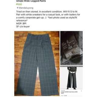 Uniqlo Wide-Legged Pants