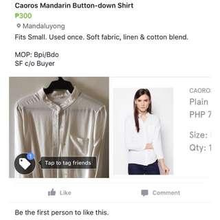 Caoros Mandarin Long-Sleeved Shirt