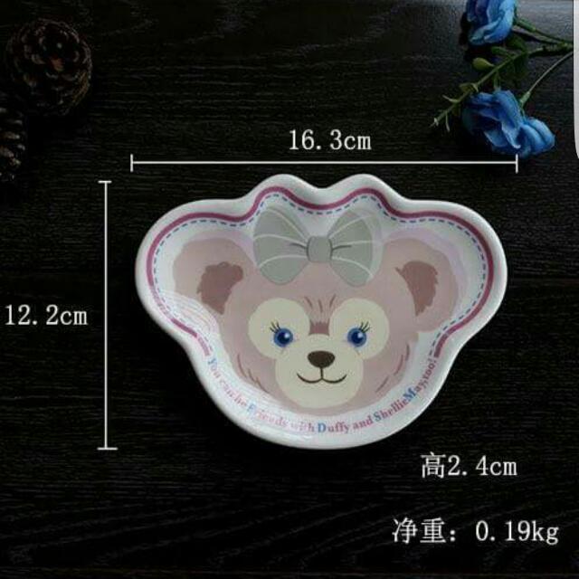 (預購)雪莉小熊點心陶瓷盤