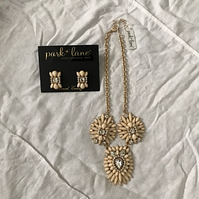 A Set Of Necklace And Earrings