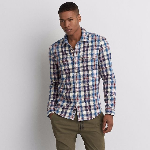 Aeo Plaid Twill Flannel Shirt