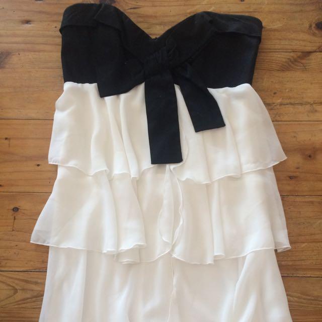 Bardōt Black And White Dress