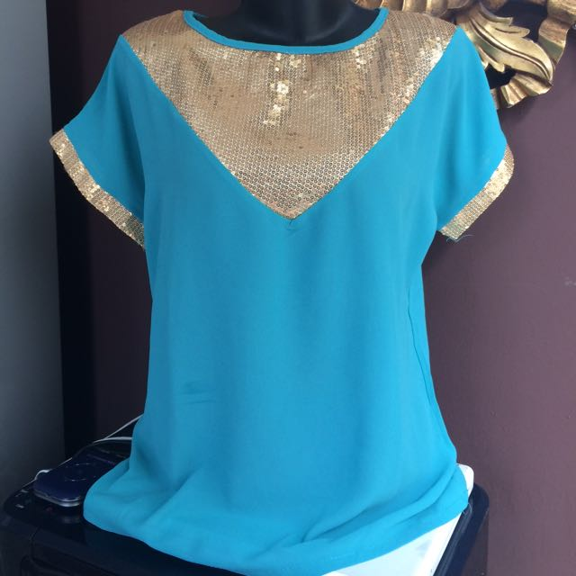 Blouse Blue 🔥SALE