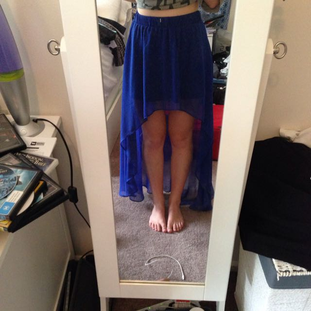 Blue Mullet Skirt From Supre Size XS