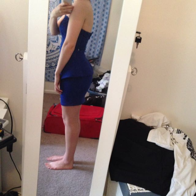 Blue Tight Dress From Ally Size 8