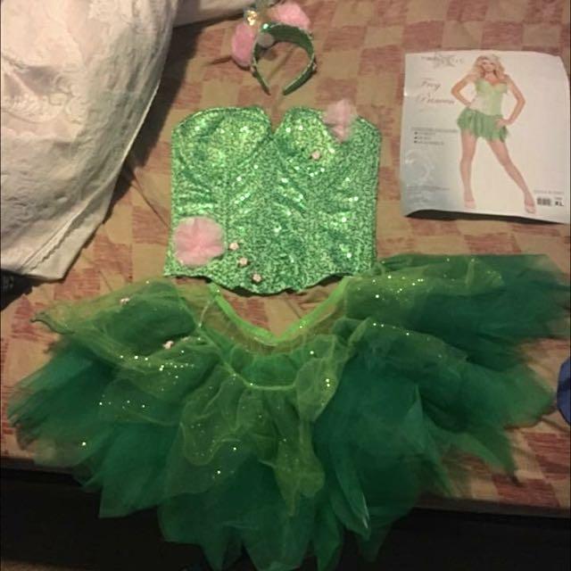 BNIB Frog Princess /tinker bell Corset Costume