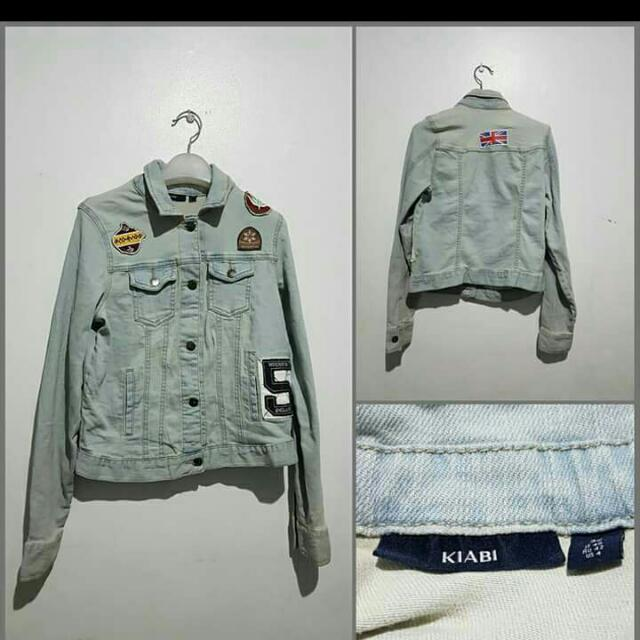 BRAND NEW Kiabi Denim Jacket 420 Each Sizes: S to L Patches May Vary
