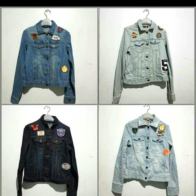 BRAND NEW Kiabi Denim Jacket 430 Each Sizes: S to L Patches May Vary