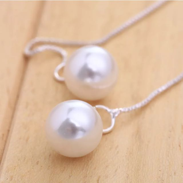 Brand New Pearl Earrings Free With Purchase Over 10