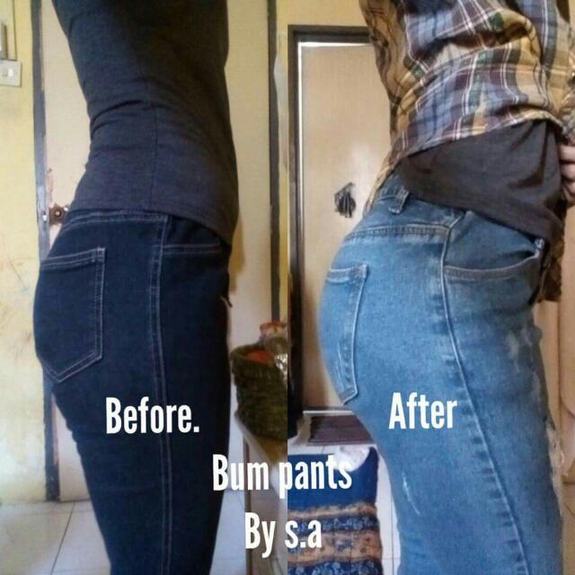 b9bb24333fa42 Bump Push Up Pants, Women's Fashion, Clothes, Bottoms on Carousell