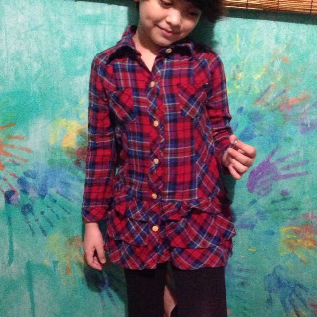 Checkered Longsleeves For Kids