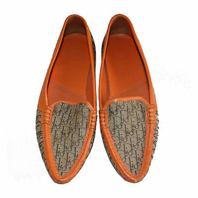 CHRISTIAN DIOR BROWN MONOGRAM LOAFERS SHOES
