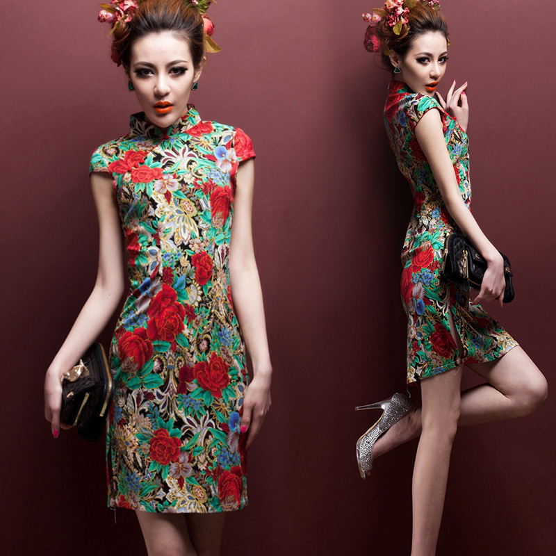 8d142da96e9 CNY Modern Plus Size XL Cheongsam Chinese Dress QiPao Blouse ...