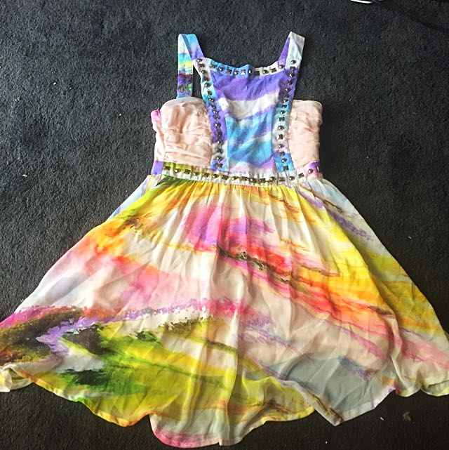 Colourful Party Dress Size 8
