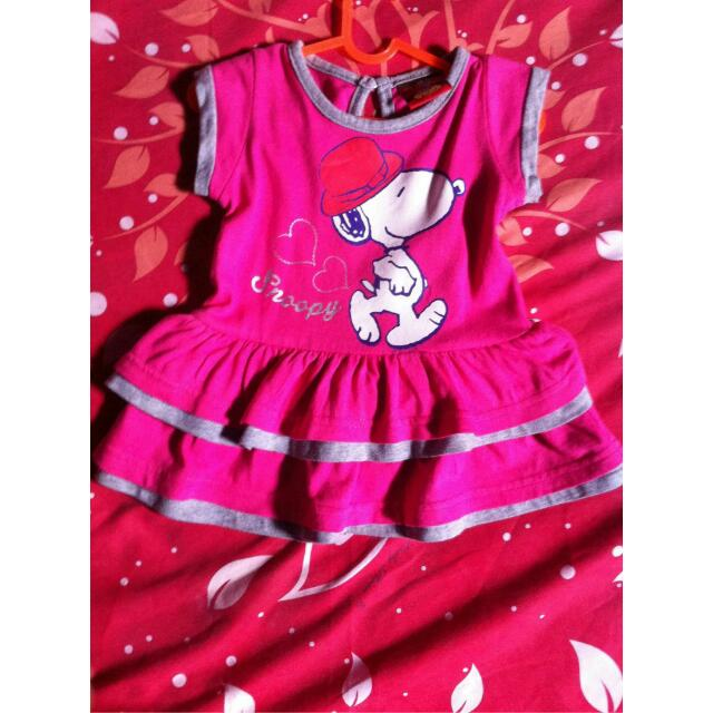 Dress Peplum Snoopy Baby