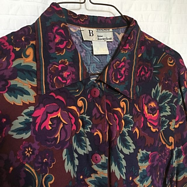 Floral Print Button Up Size Small