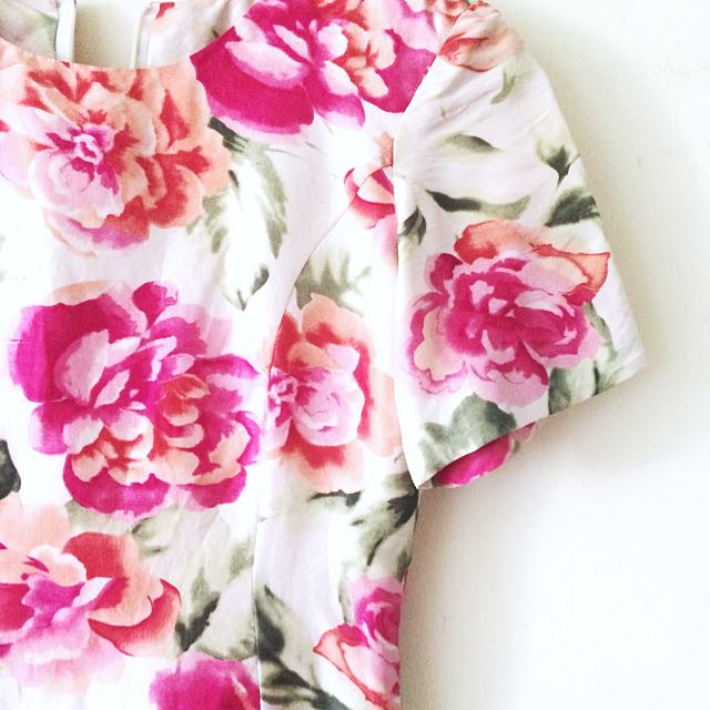 Flowery Mini Dress