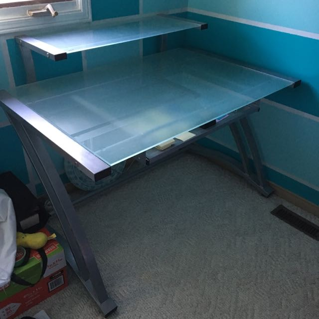 Glass Office Desk