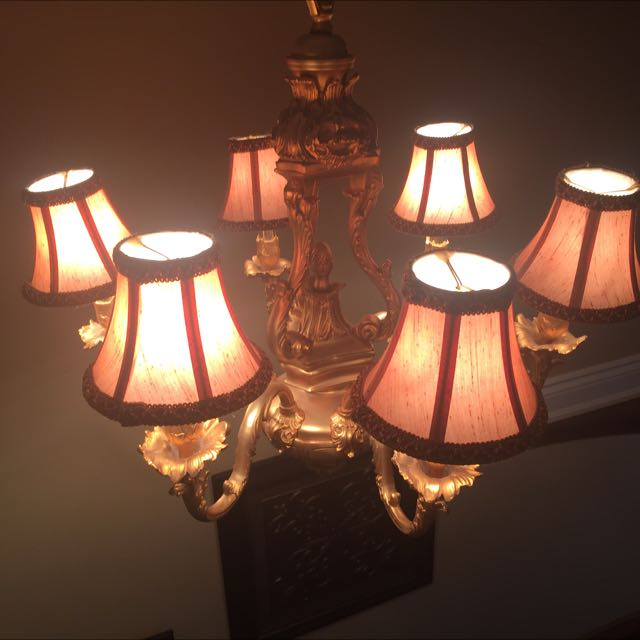 Gold Plated 6 Light Chande