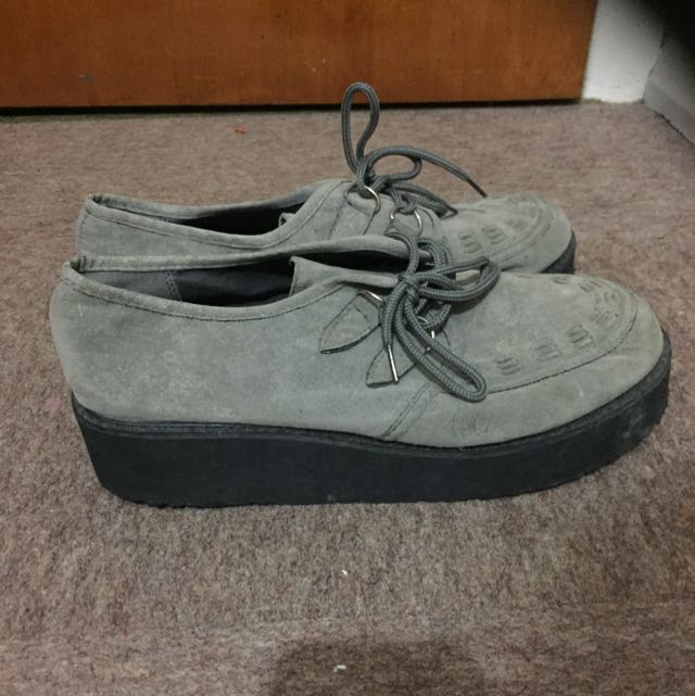 Grey Asos Creepers Size 10