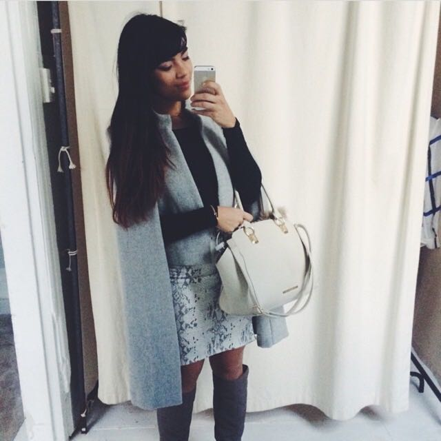 Grey Wool Sheike Coat