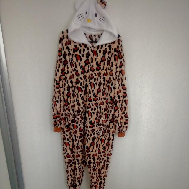 Hello Kitty Leopard Onesie