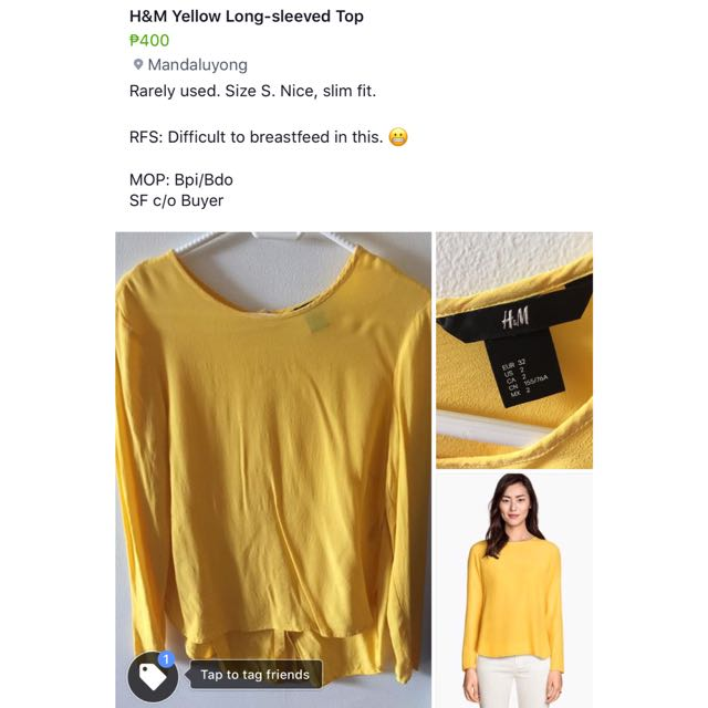 H&M Long-sleeved Top