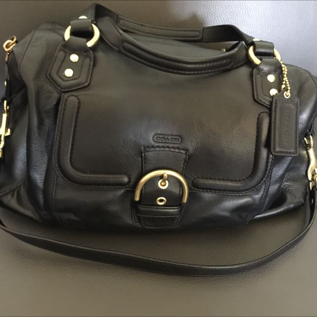 Leather Coach Handbag
