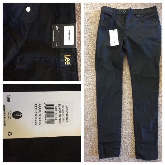 LEE Gloss Black Jeans *BRAND NEW*