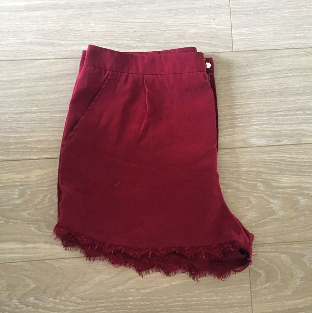 Maroon Dress Shorts