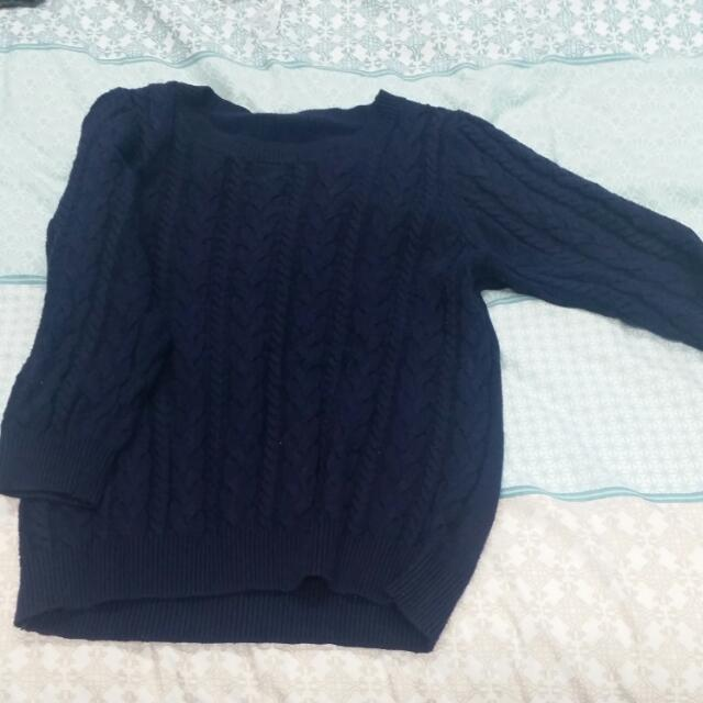 Navy Blue H&M Knit Jumper