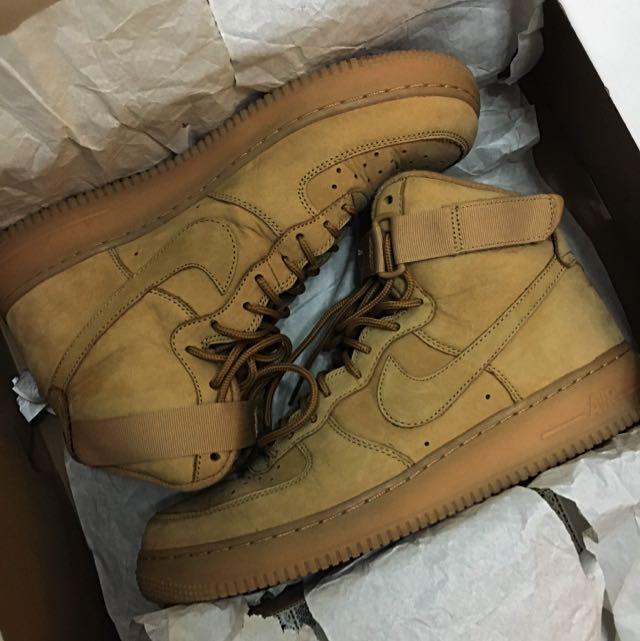 buy popular 53a2a 5af7f Nike Air Force 1 High Flax