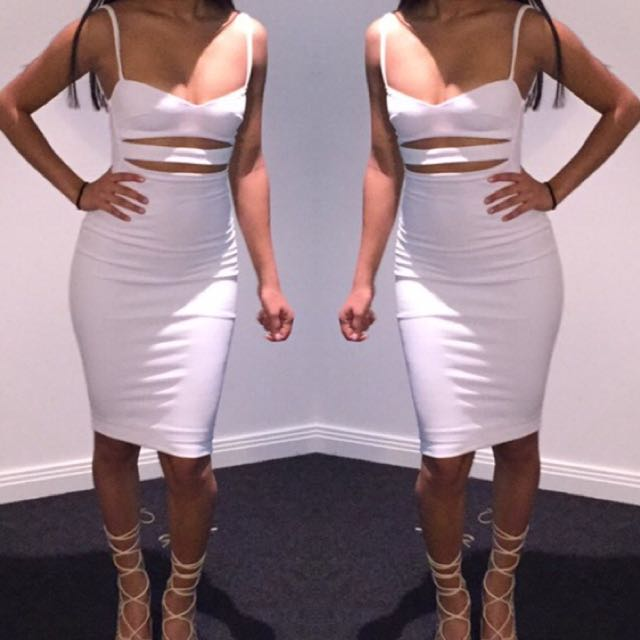 Nookie Bridget Bustier Dress In White