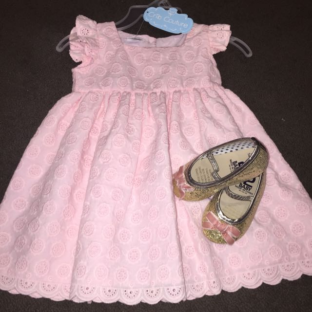 Pink Party Dress And Cotton On Shoes - Free Postage