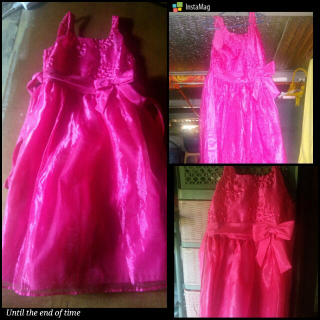 Pink Gown For Kids