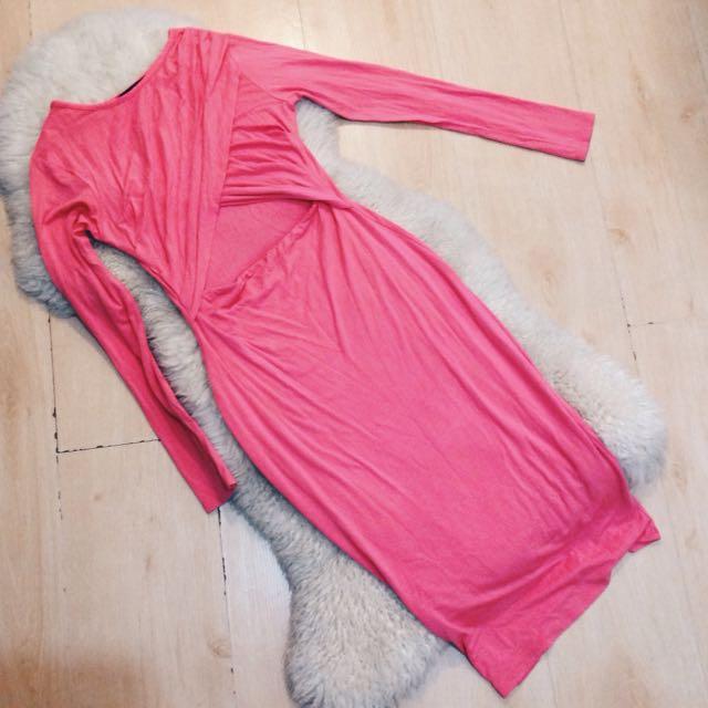 RIVER ISLAND Pink Bodycon Dress