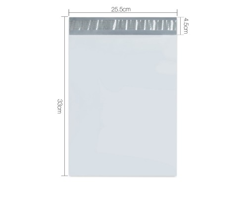Set of 100 Poly Mailer Bags - 225 x 330mm