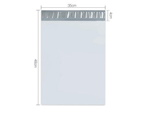 Set of 200 Poly Mailer Bags - 350 x 480mm