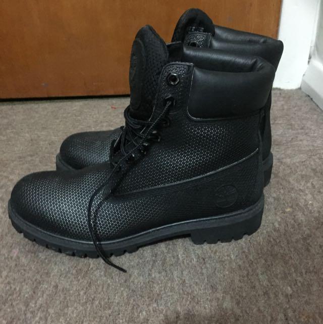 Size 10.5 Black Timberlands