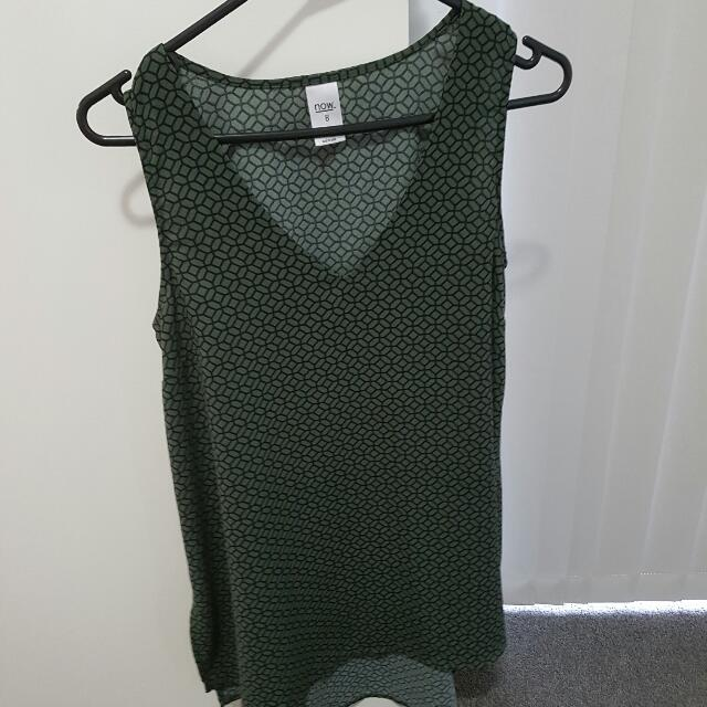 Sleeveless Top Longer At The Back