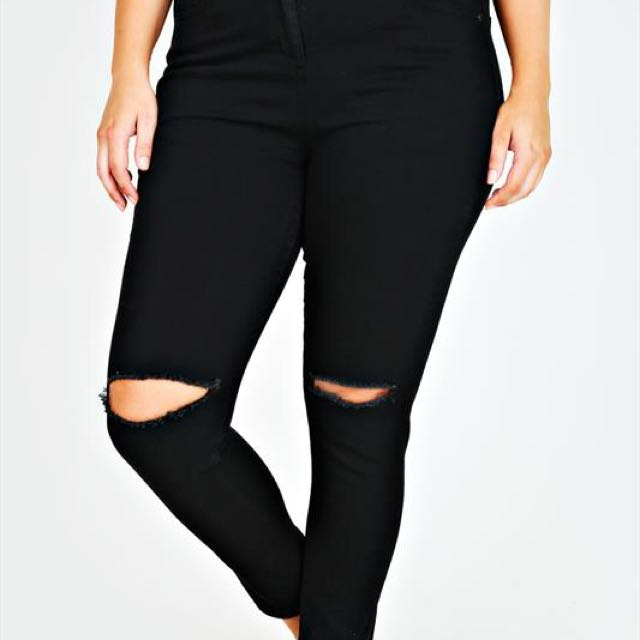temt black knee ripped jeans 0fd4830a42