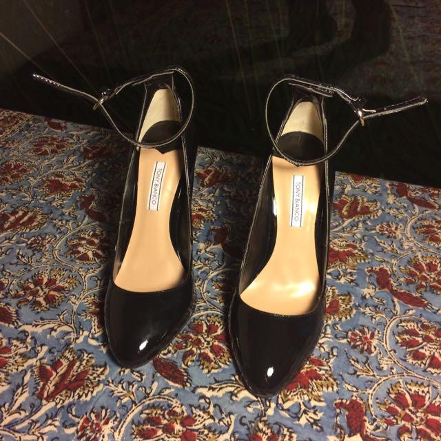Tony Bianco Black High Heel Mary Janes